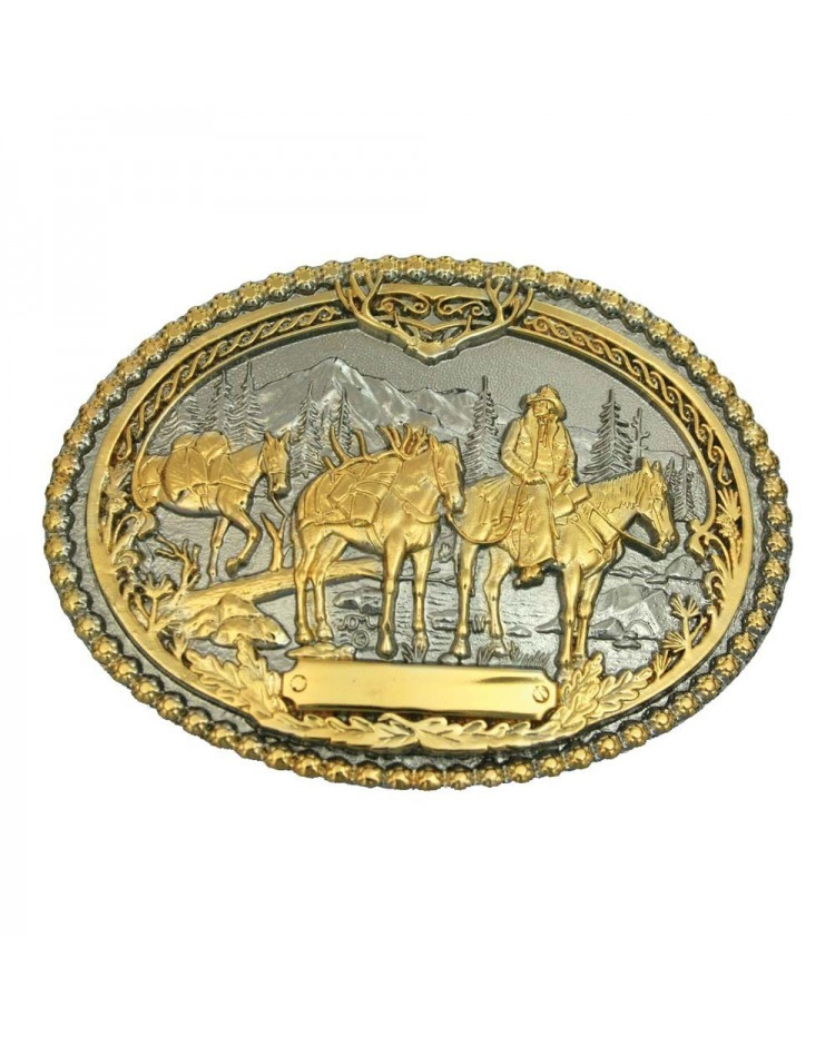 Buckle riding horses